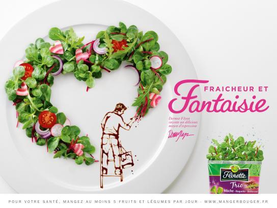 Florette Print Ad -  Freshness & Fantasy, 2