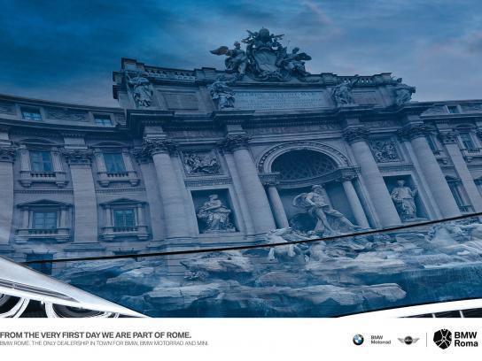 BMW Print Ad -  Fontana di Trevi