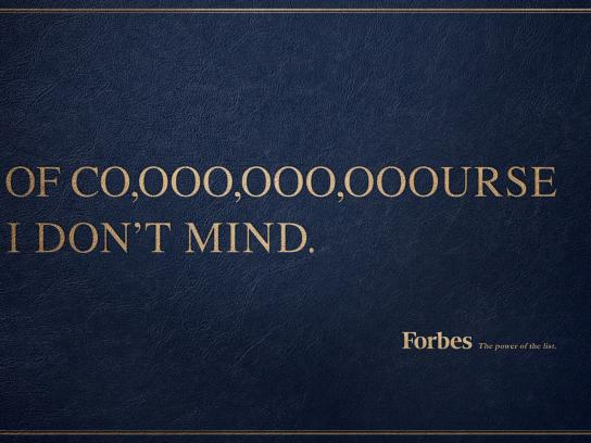 Forbes Print Ad - Of course