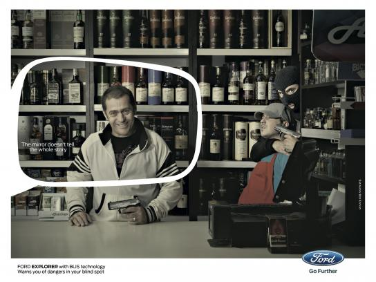 Ford Print Ad -  Blind spot