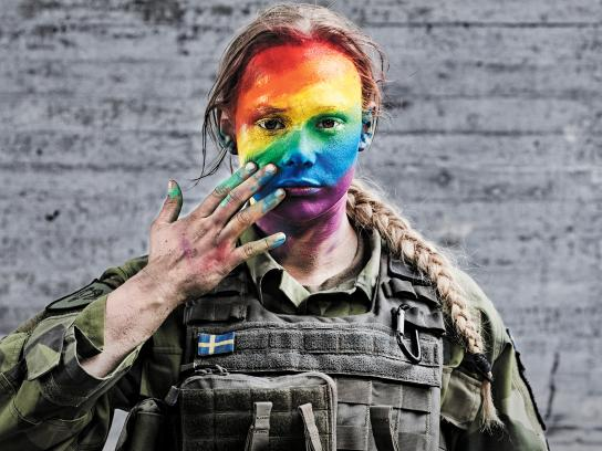 Swedish Armed Forces Print Ad - We Don't Always March Straight, 1