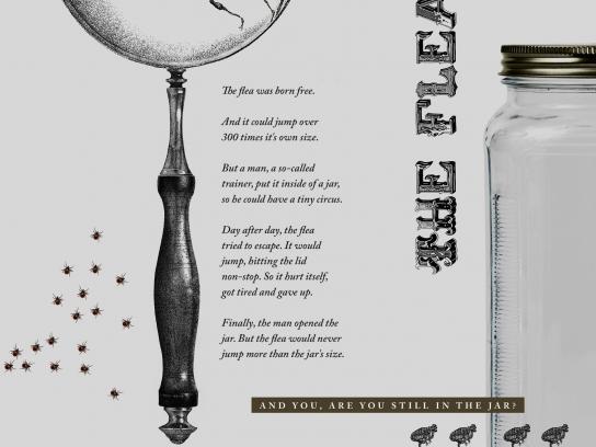 Instituto de Estudos Empresariais Print Ad -  The flea