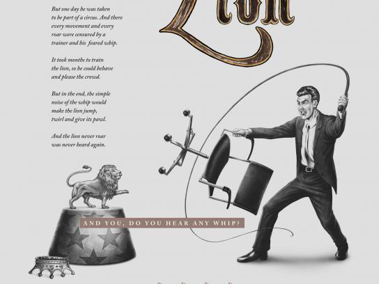 Instituto de Estudos Empresariais Print Ad -  The lion