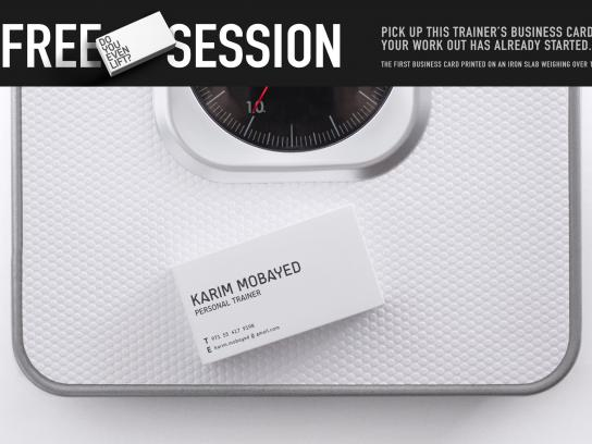 Karim Mobayed Direct Ad -  Iron slab business card