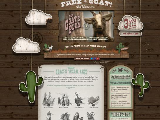 Walt Disney Parks and Resorts Digital Ad -  Free the Goat