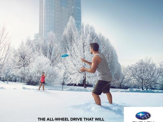 Quebec Subaru Dealers' Association Print Ad -  Forget winter, 1