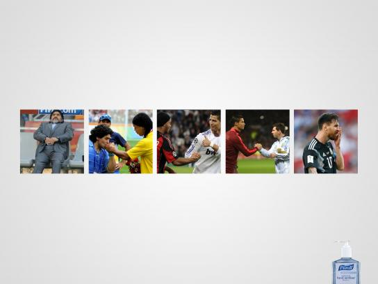 Purell Print Ad - Dirty hands: From Maradona to Messi