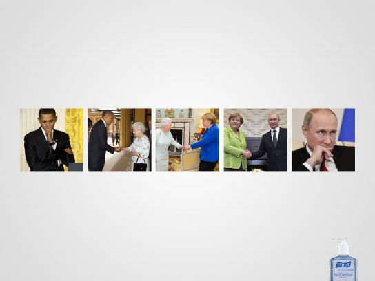 Purell Print Ad - Dirty hands: From Obama to Putin