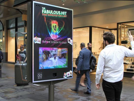 V Energy Drink Outdoor Ad - Mardi Gras Photobooth