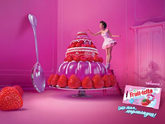 Fruit-tella Outdoor Ad - Cake