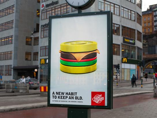 Friskis&Svettis Outdoor Ad -  The Workout Burger