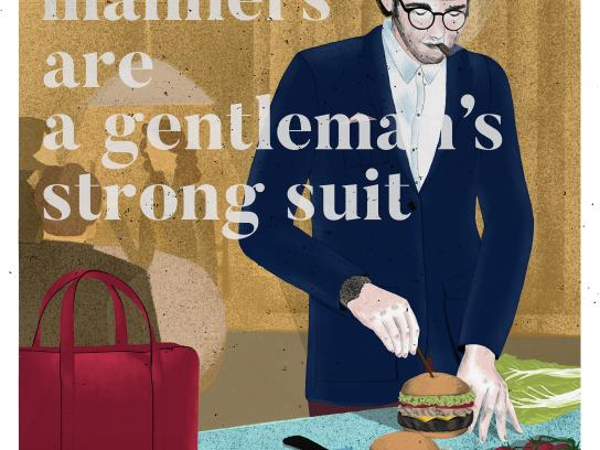 Friendly Suits Print Ad - Dinner