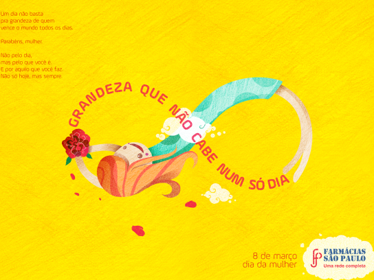 Farmácias São Paulo Print Ad - Greatness that doesn't fit in one day