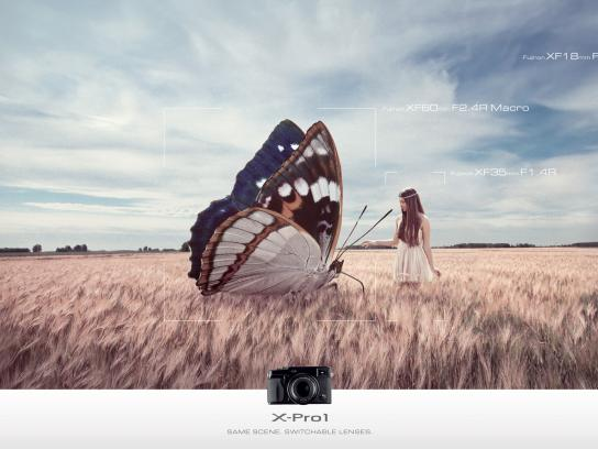 Fujifilm Print Ad -  Butterfly