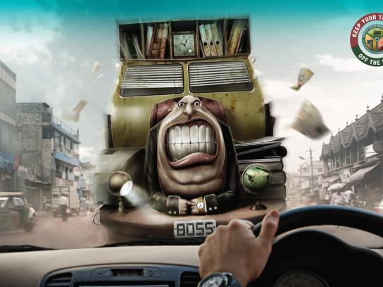 Bangalore traffic police Print Ad -  Boss