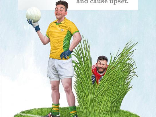Irish Examiner Print Ad - We Define the Games - Long Grass