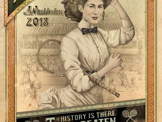 Wimbledon Outdoor Ad - History is There to be Beaten, 3