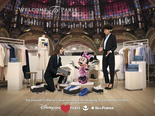 Disneyland Paris Print Ad - Galeries Lafayette