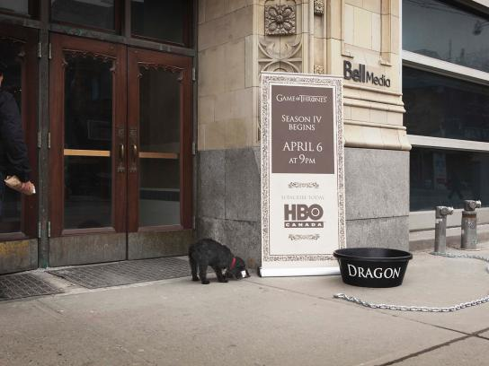 HBO Ambient Ad -  Dragon bowl