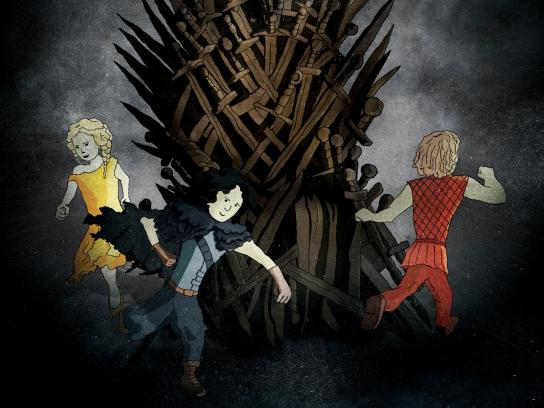 The Kings of the House Print Ad -  Musical Thrones