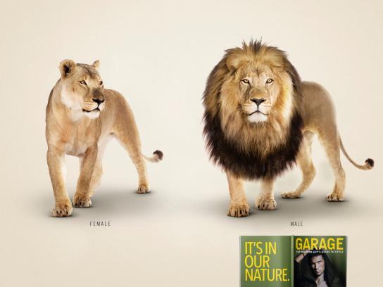 Garage Print Ad -  Lion