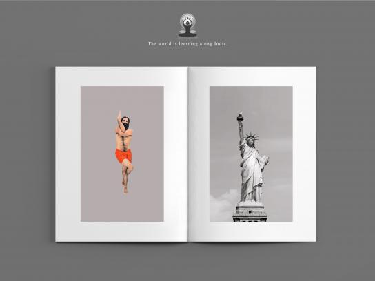 International Yoga Day Print Ad - Garudasana