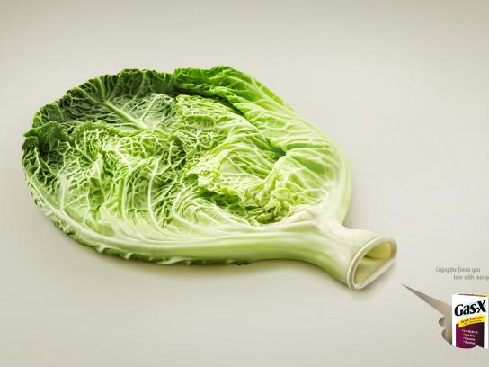 Gas-X Print Ad -  Cabbage