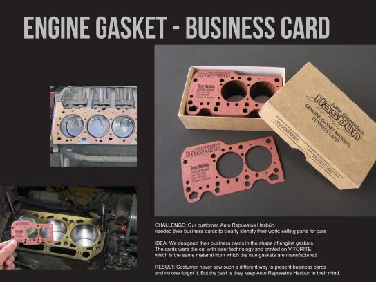 Auto Repuestos Hasbun Direct Ad -  Engine gasket business card