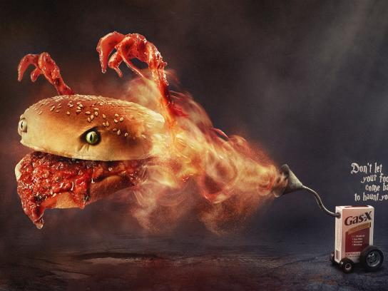 Gas-X Print Ad -  Haunted Sloppy Joe