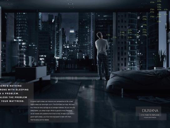 Duxiana Print Ad -  Sleeping on a Problem
