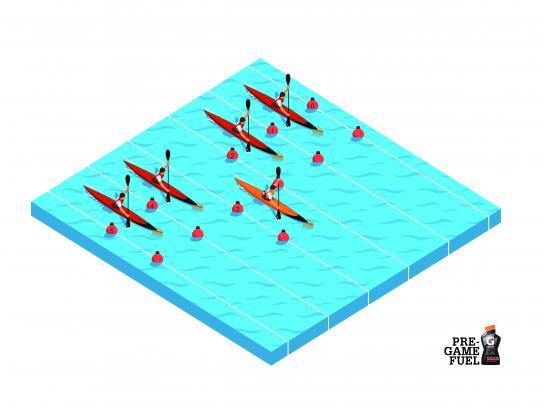 Gatorade Print Ad - Canoeing