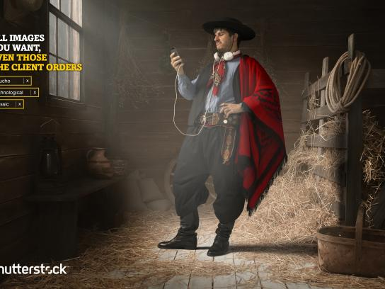 Shutterstock Print Ad -  Gaucho, Technological, Classic