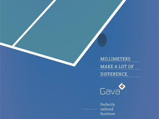 Gava Print Ad - Millimeters make a lot of difference, 1