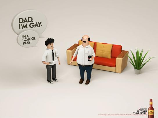 Fuego Azteca Print Ad -  Gay