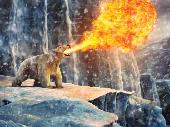 GE Print Ad -  Polar bear
