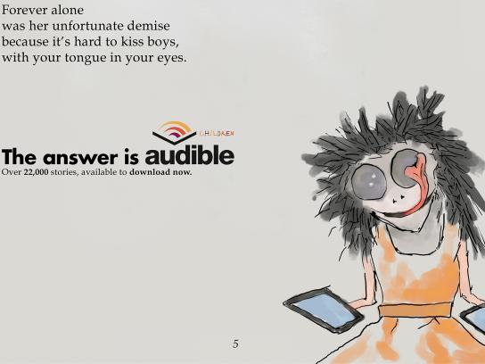 Audible Print Ad - Little Monsters - Gecko Gabby