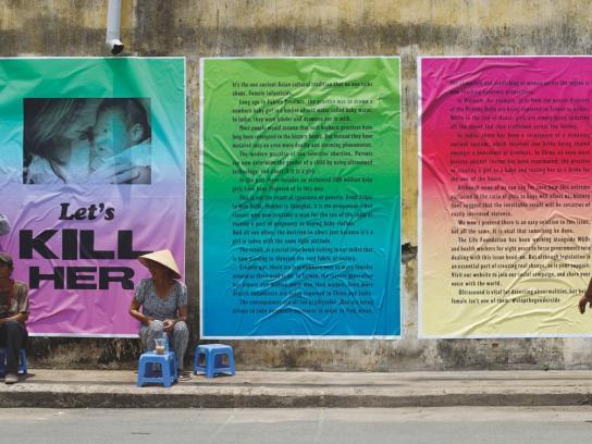 Stop Gendercide Print Ad -  Kill her