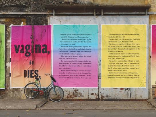 Stop Gendercide Print Ad -  Penis