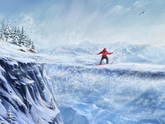 Generali Print Ad - No Ordinary - Snowboard