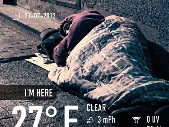 Fundación gente de la Calle Print Ad -  Reality has no filters, 2