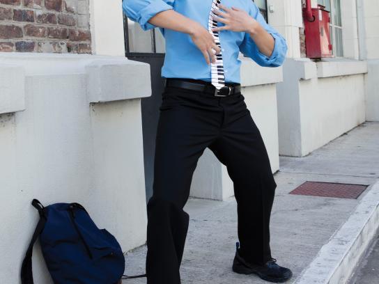 Gentleman Print Ad - Piano Tie