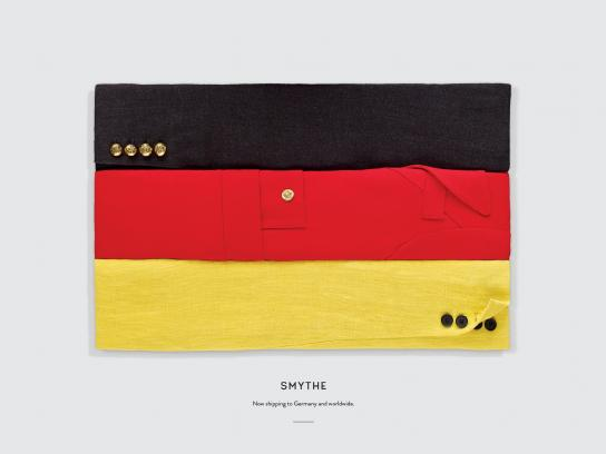 Smythe Print Ad - Flags, Germany