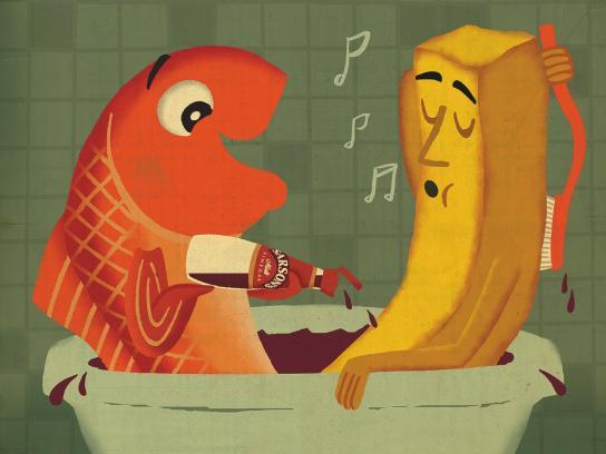 Sarson's Print Ad -  Bath