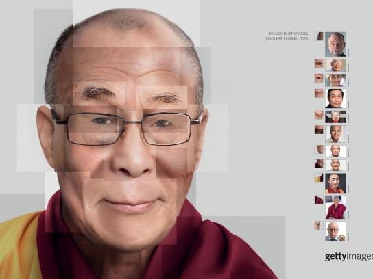 Getty Images Print Ad - Dalai Lama