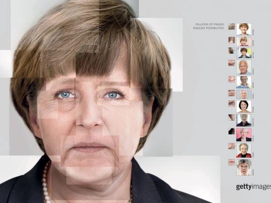 Getty Images Print Ad - Merkel