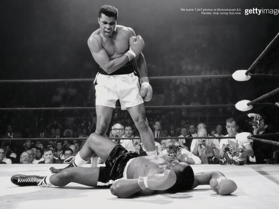 Getty Images Print Ad -  Ali