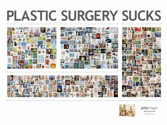 Getty Images Print Ad -  Plastic Surgery
