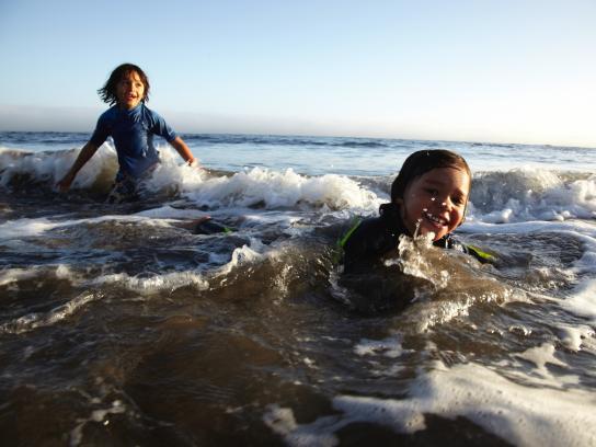 Enjoying a midday swim