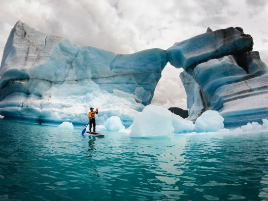 Some nice ice paddling