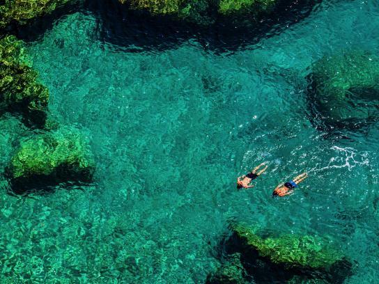 A crystal-clear sea